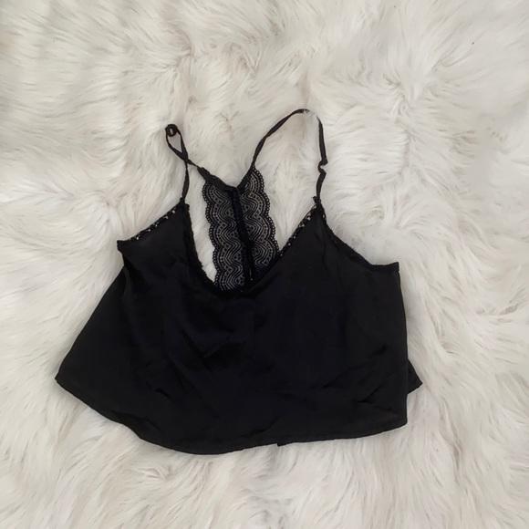 black Silk-like camisole